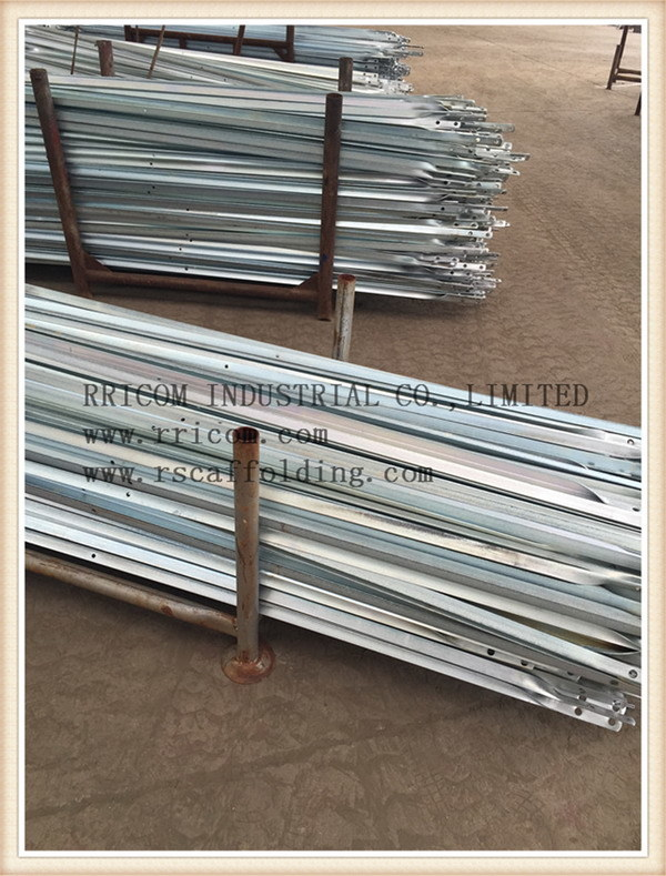 Galvanized Angle Iron Scaffolding Cross Brace