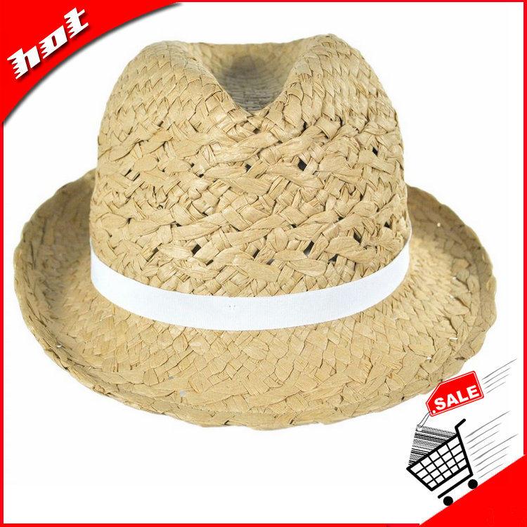 Paper Straw Hat Fedora Hat