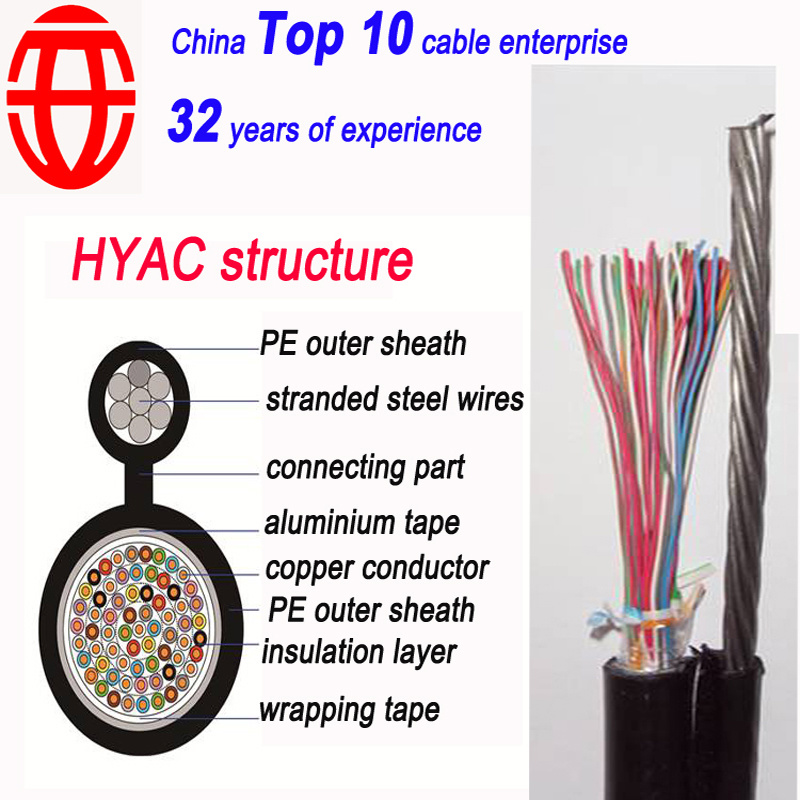 30 Pair Shielded Aerial Self-Supporting Telephone Cable