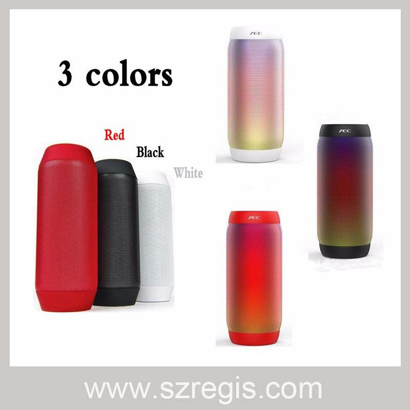 LED Colorful Portable Radio Wireless Bluetooth Speaker