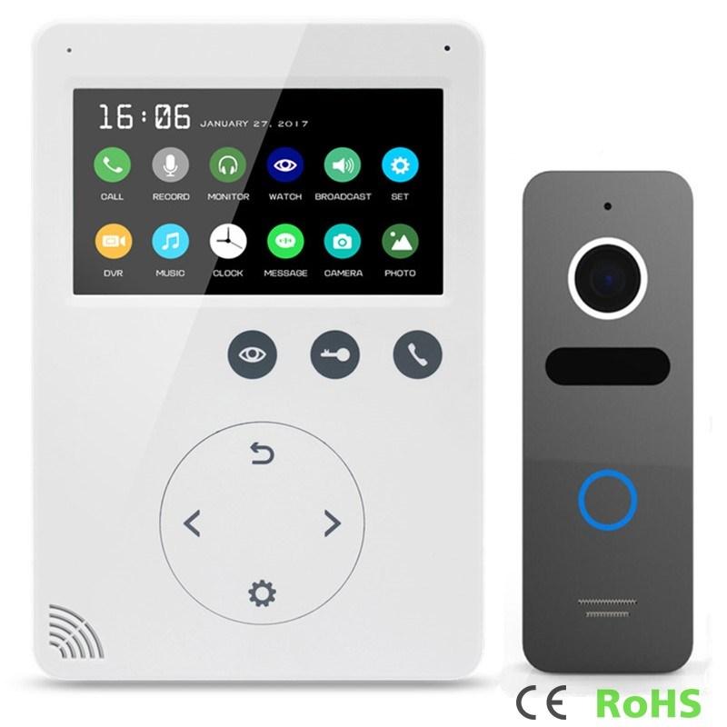 Home Security 4.3 Inch Intercom Video Door Phone Door Bell Interphone