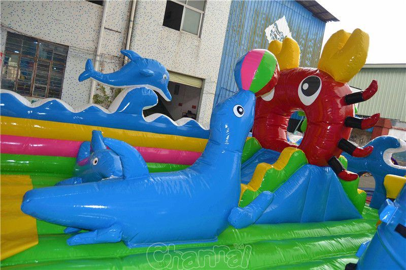 Ocean Theme Inflatable Funcity Chob400