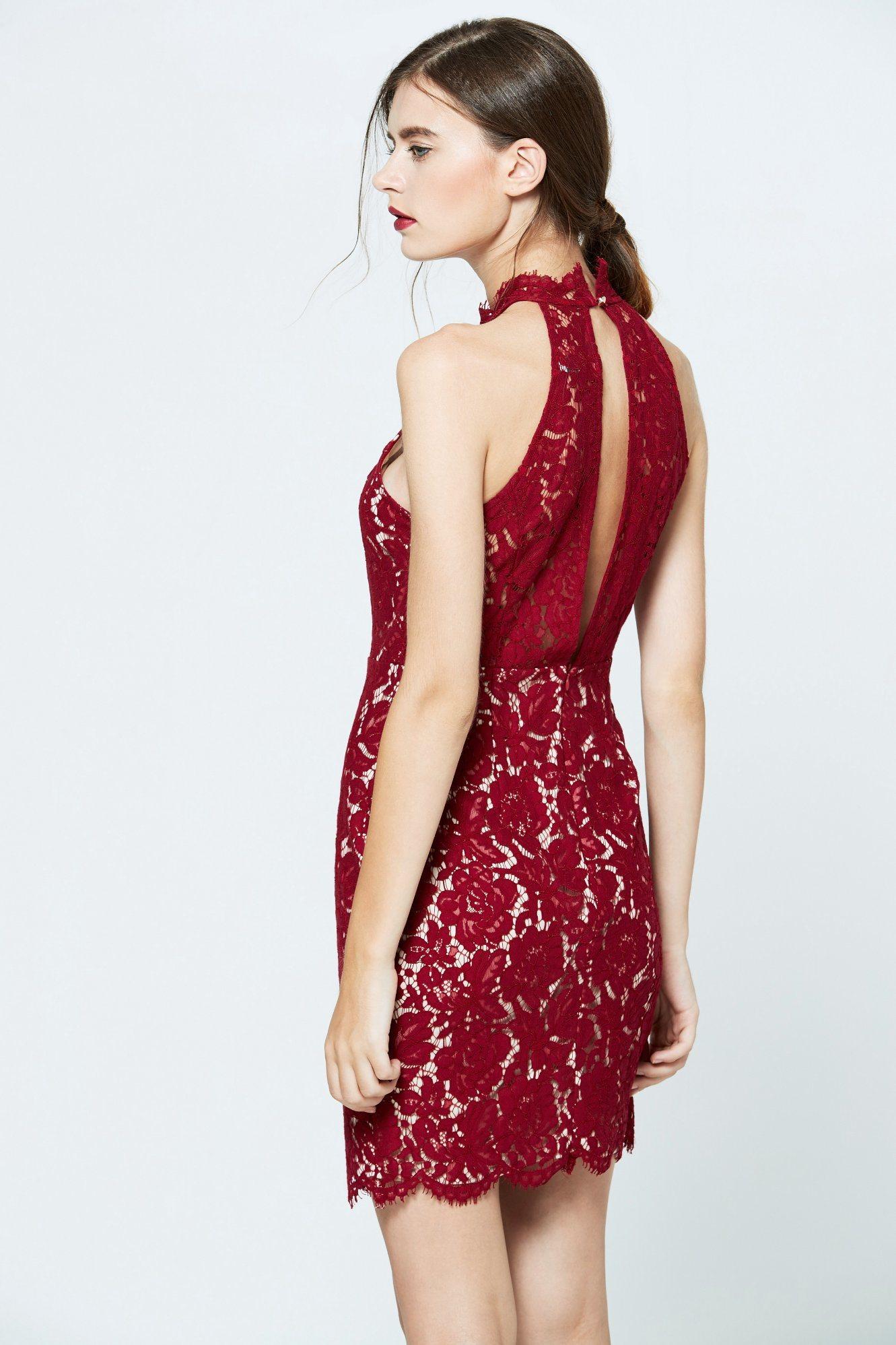 Wholesale Fashion Elegant Sexy Summer Ladies Modern Red Sweet Dress