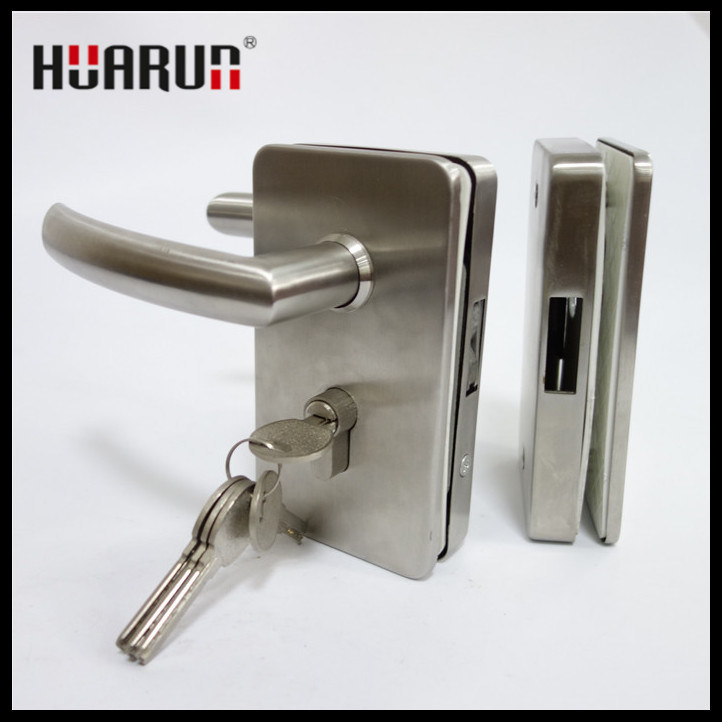Stainless Steel Swing Glass Door Handle Lock (HR1130/HR1131)