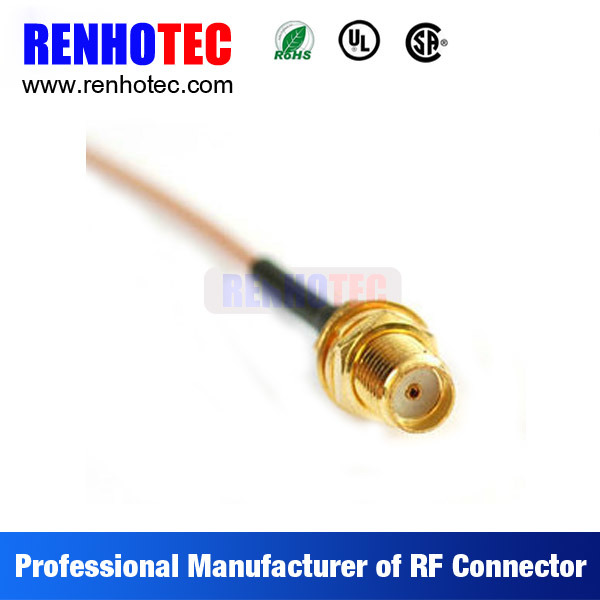 Gold Plated RF Wire Connector SMA Female Connector Straight for Rg174 Rg58 Cable Assembly