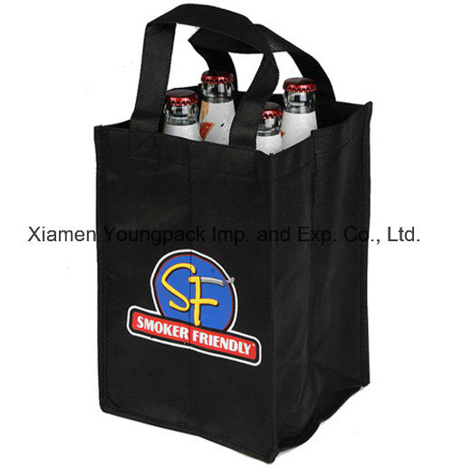 Wholesale Promotional Wine Packaging Bags Advertising Custom Printed Reusable Burlap Jute Fabric Drawstring Single Bottle Wine Gift Bags