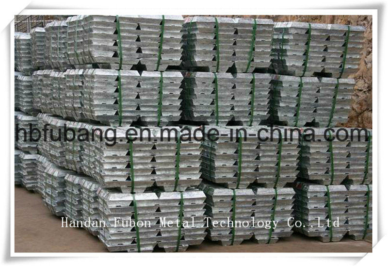 Pure Zinc Ingot 99.995%, Factory Supply Directly