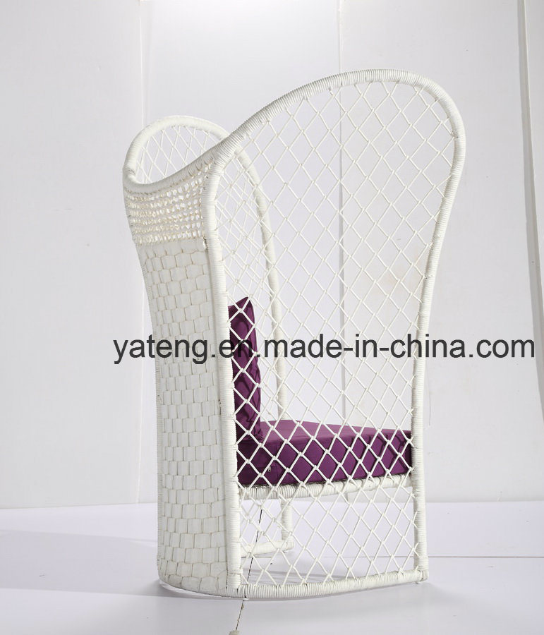 New design Hotel Furniture Rope Outdoor Furniture Coffee Set with Lover Sofa &Side Table&Ottoman (YT998)