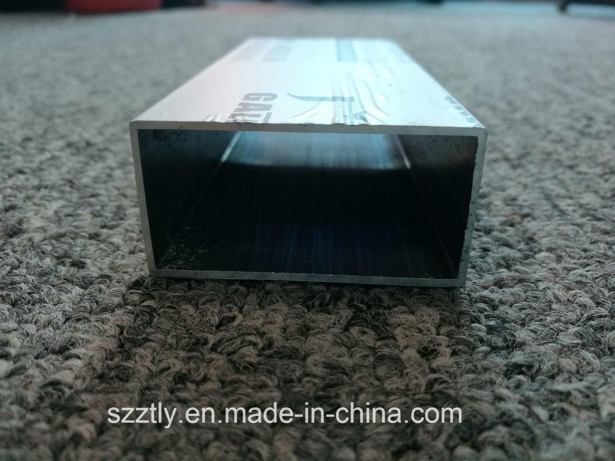 Anodised Silver Aluminum Rectangular Tube Regular Sizes Available