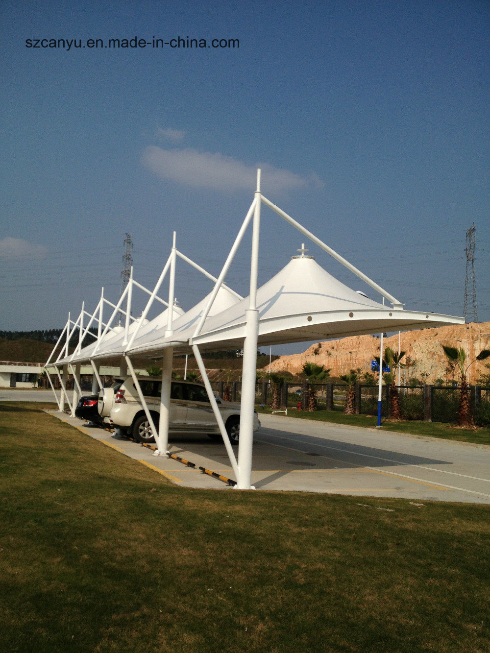 Permanent Carport Membrane Structure, Permanent Carport