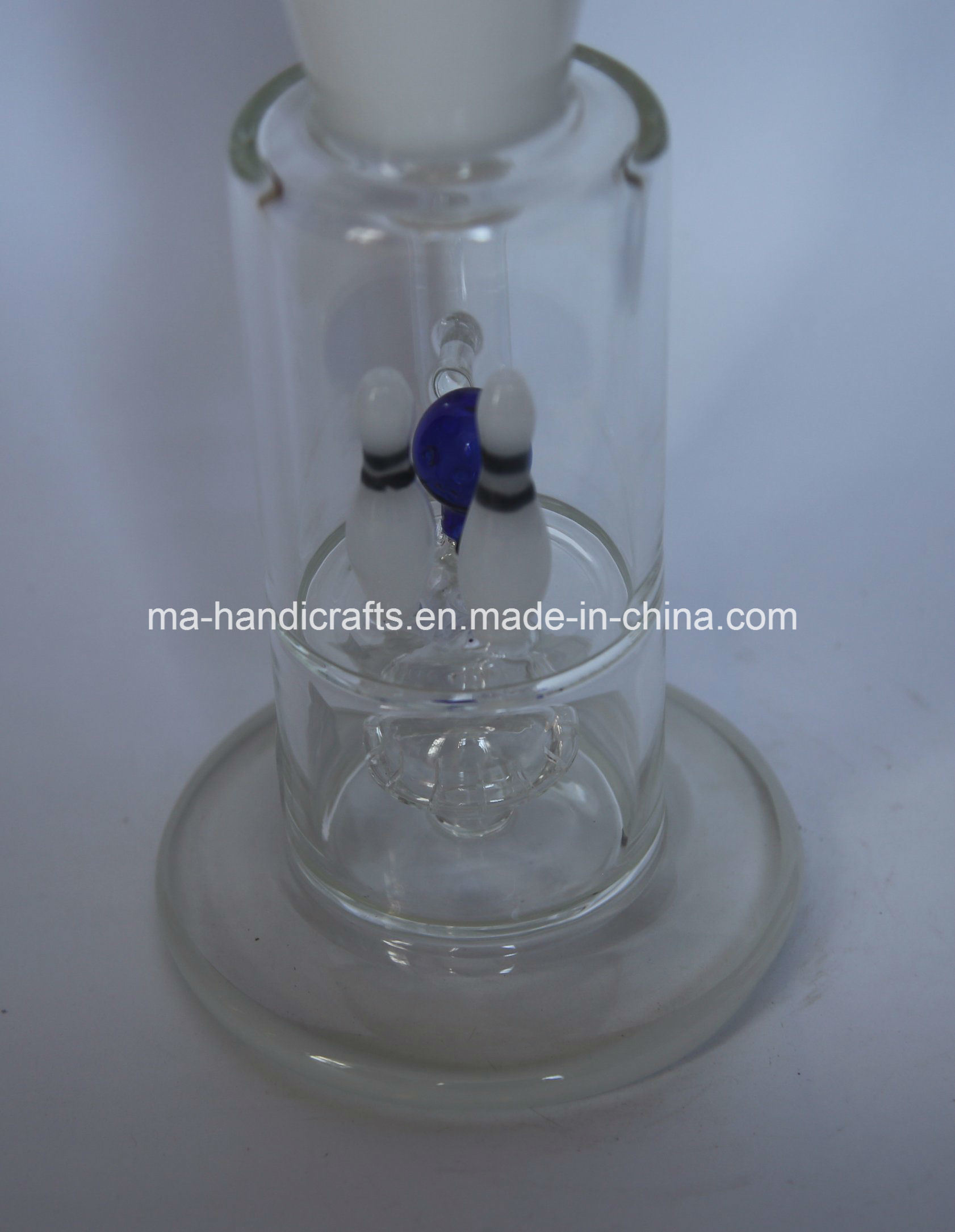 "14"" Bowling Smoking Glass Water Pipes with Triple Perc"