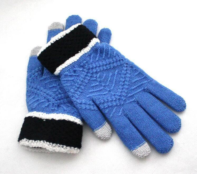 Soft Jacquard Screen Touch Knitting Gloves