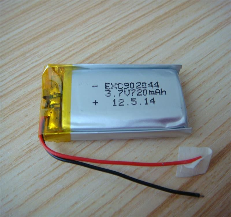 9X20X44mmpl902044 720mAh 3.7V Rechargeable Lithium Polymer Battery Cell with PCM and Wires