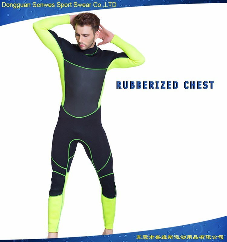 Neoprene Men′s Flexible Wetsuit for Surfing Diving Snorkeling