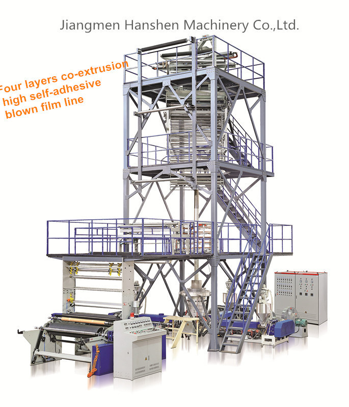 1600 Three Layers Co-Extrusion PE Film Blowing Machine