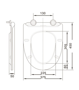 Europen Standard Toilet Seat Cover