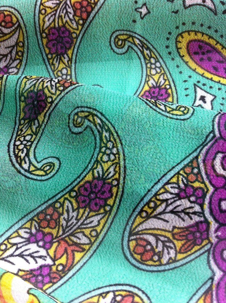 100% Polyester Printed Fabric of Roller Printed for Dress and Clothing