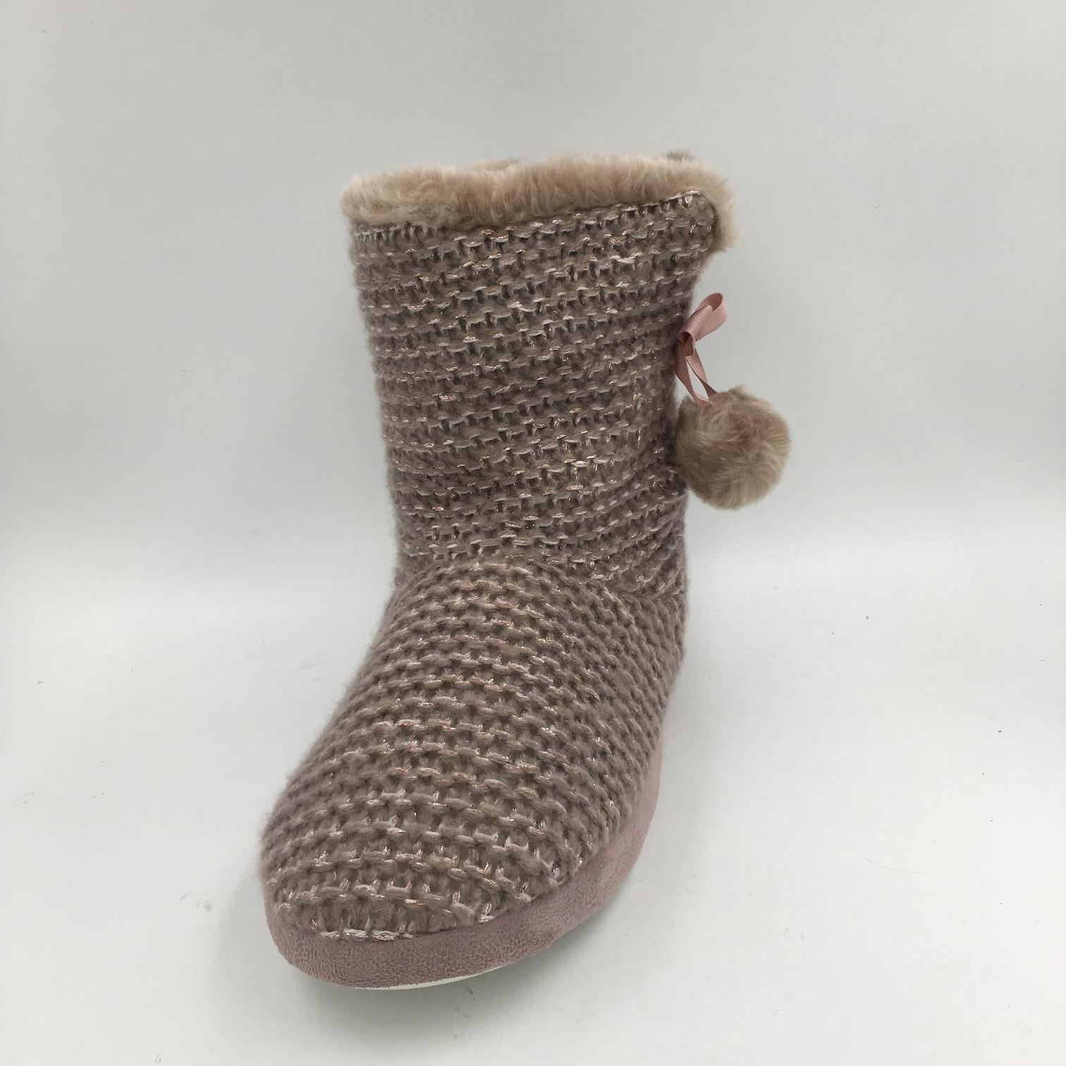 Lds Knit MID-Calf Indoor Boots