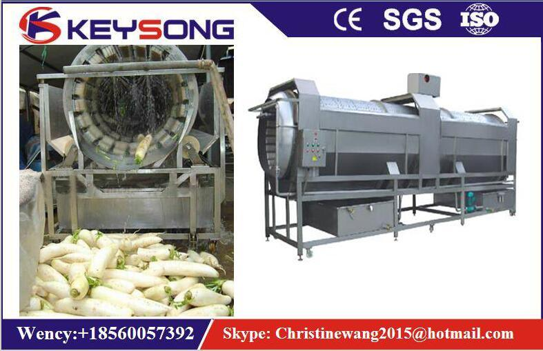 Vegetable Rotary Drum Washing Machine