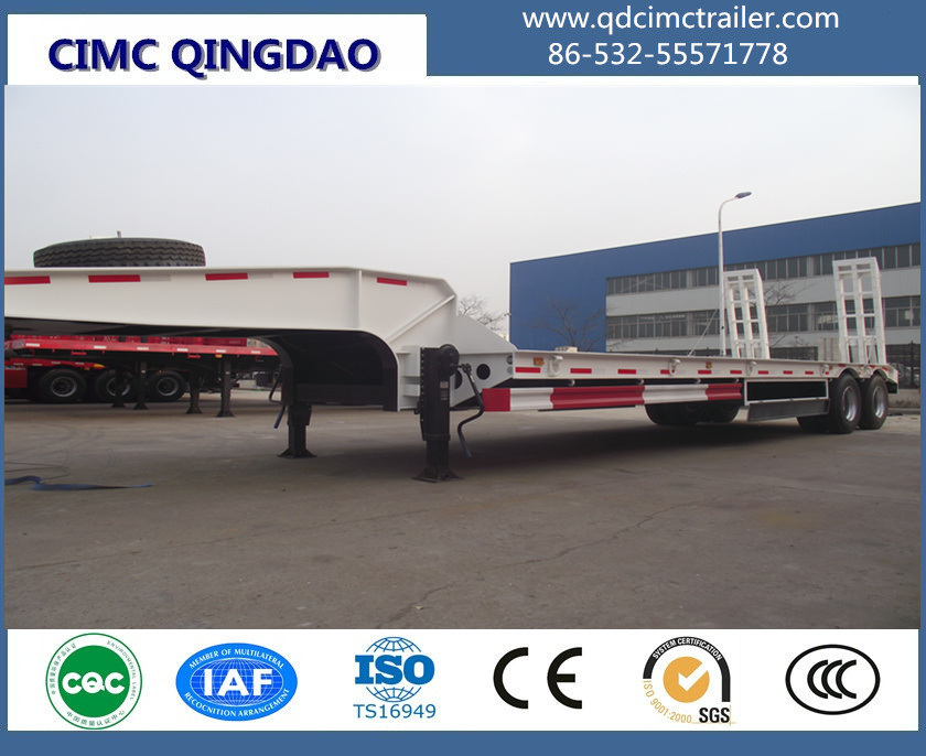3 Axles New 60tons Low Bed Truck Trailer