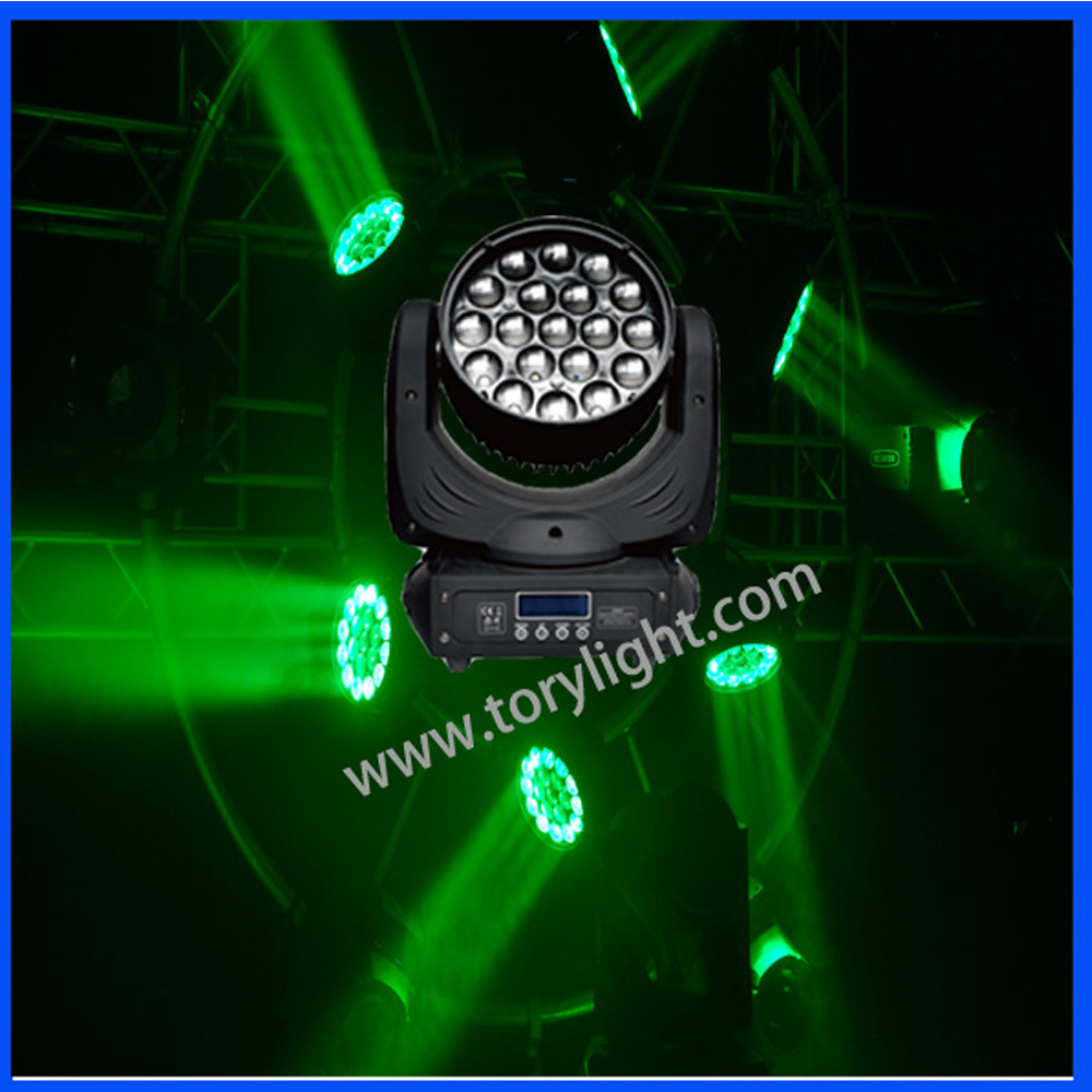 LED Bulb Stage Equipment 19PCS*12W Zoom Wash Light
