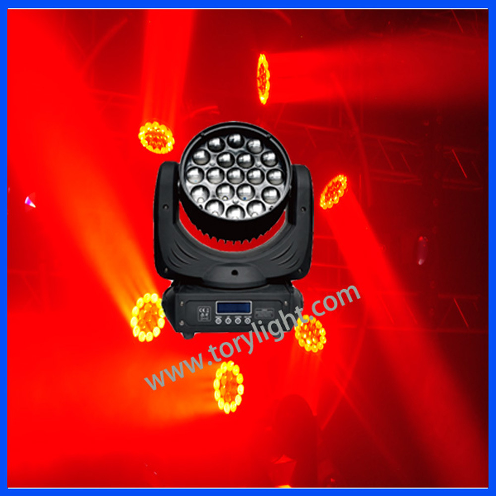 LED Bulb Stage Equipment 19PCS*12W Zoom Wash Light