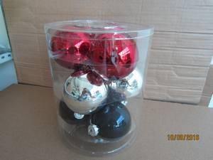 Set 36 Single Color Glass Ball for Christmas