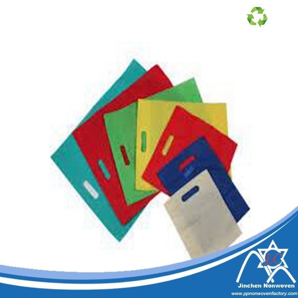 D-Cut Colored PP Spunbond Nownoven Shopping Bag
