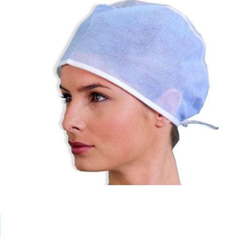 Non-Woven/SMS/Surgical/PP/Mop/Crimped/Pleated/Strip/Medical Disposable Clip Doctor Cap
