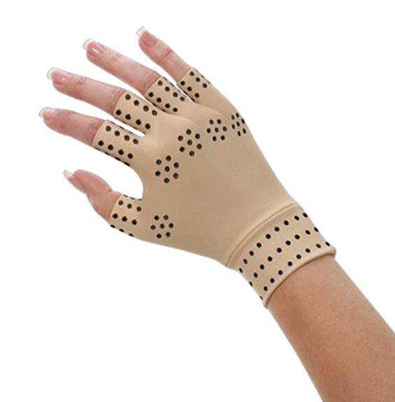 Magnetic Therapy Fingerless Gloves Arthritis Pain Relief Heal Joints
