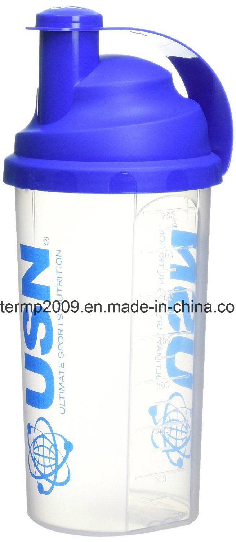 700ml 25oz Wholesale Custom Plastic Shaker Bottle, Plastic Cup for Cycling/Travel/Sport