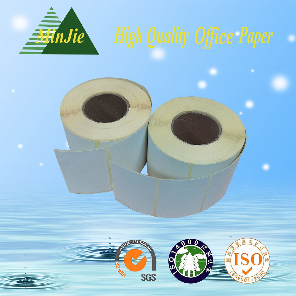 Yellow Color Glassine Base Paper Thermal Self Adhesive Label and Sticker