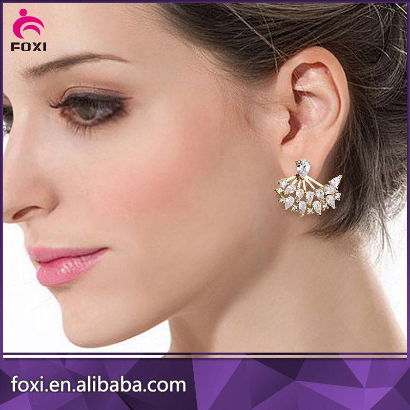 Fancy Design Latest Artificial Earrings Gold Jewelry for Women