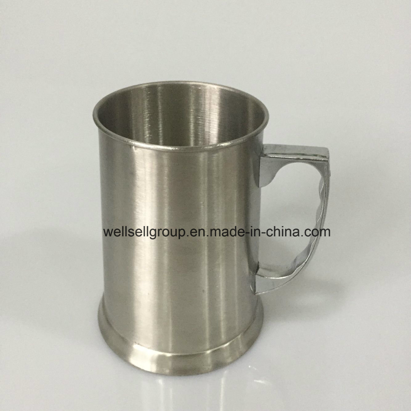 450ml Stainless Steel Tankard with Alloy Handle