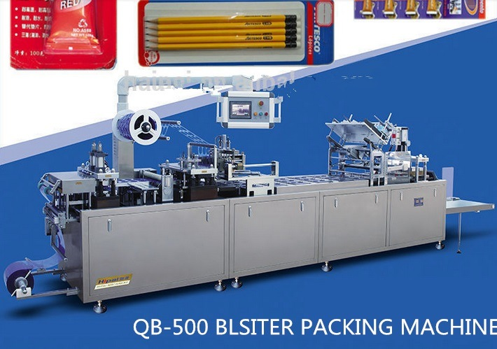 Auto Filling Glue/Battery/Toothbrush Blister Card Packaging Machine with Qibo Design