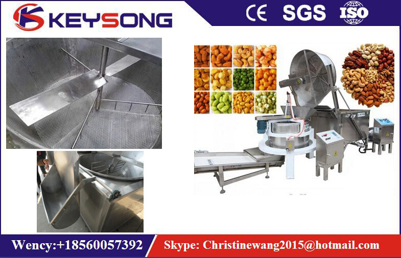Continous Belt Chips Peanut Snack Food Fryer