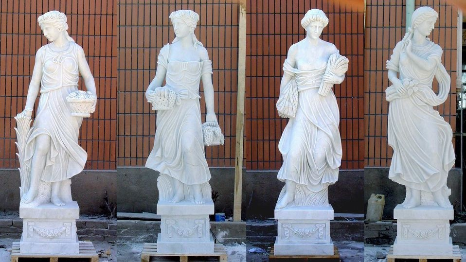 White Marble Sculpture for Garden Decoration/Carving Animal Sculpture