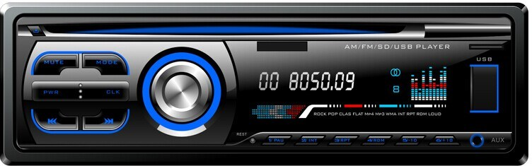 Single DIN Fixed Panel Car DVD 525
