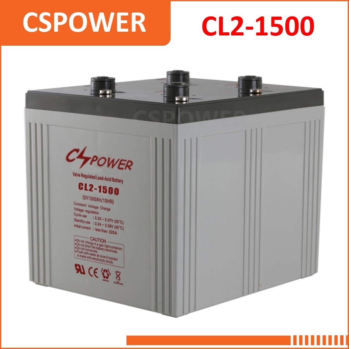 China Factory 2V1500ah Power Storage SLA Battery - Gas Station Ce