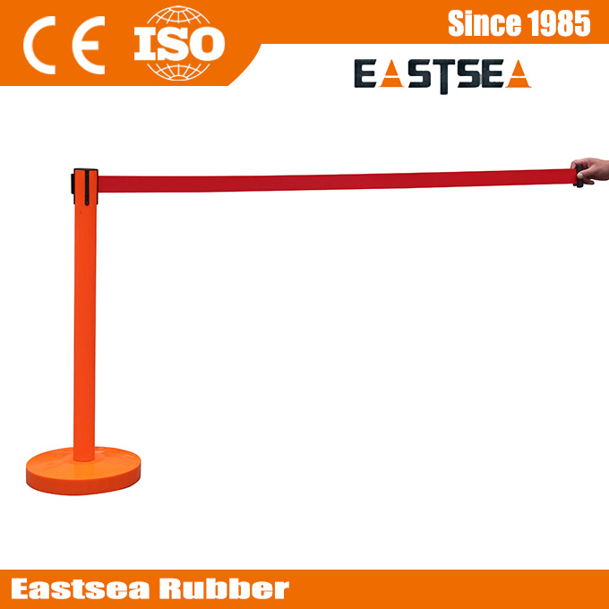 Queue Line Post Barrier Steel Retractable Crowd Control Stanchion