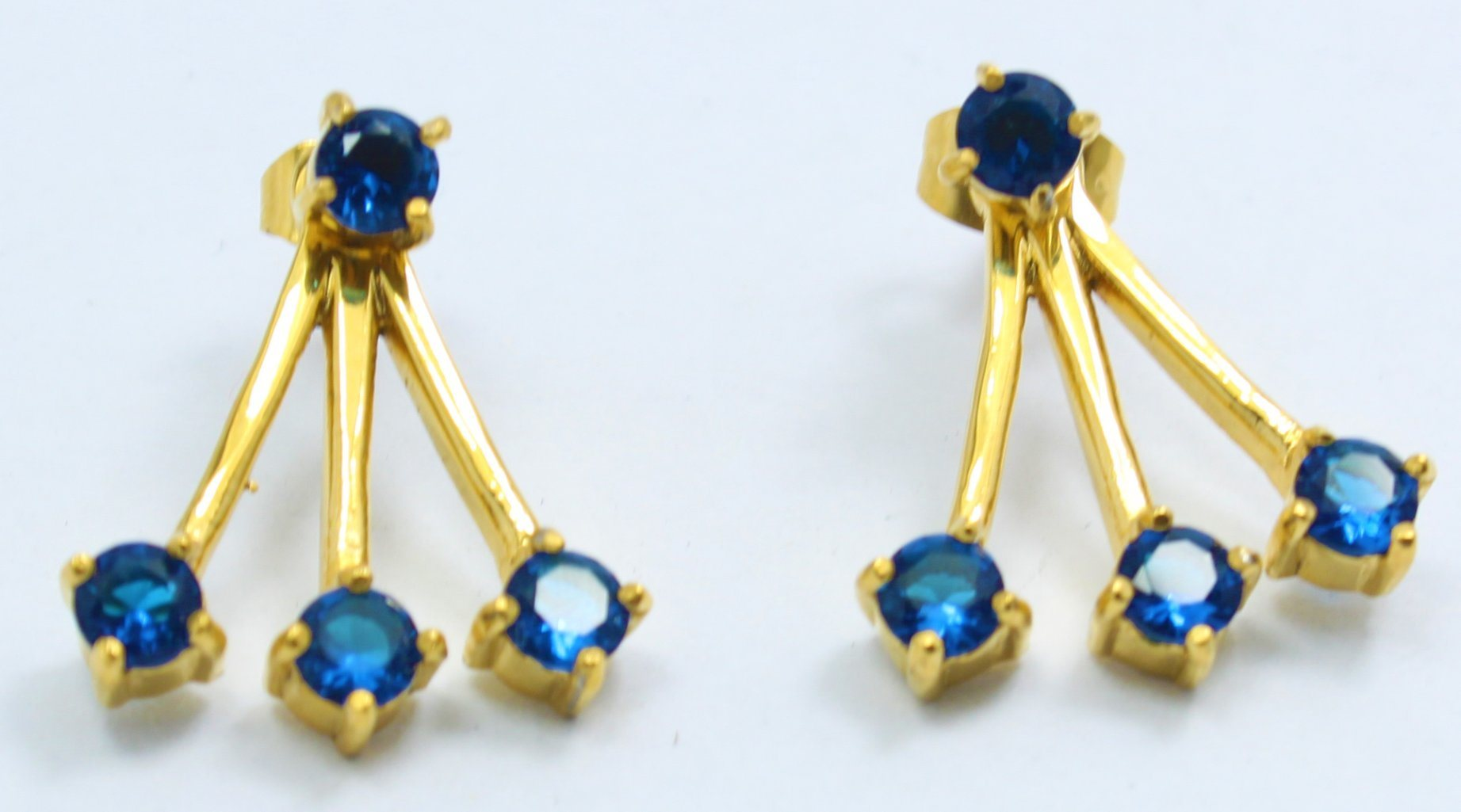 Fashion High Quality CZ Stones Jewelry 316L Stainless Steel Earring