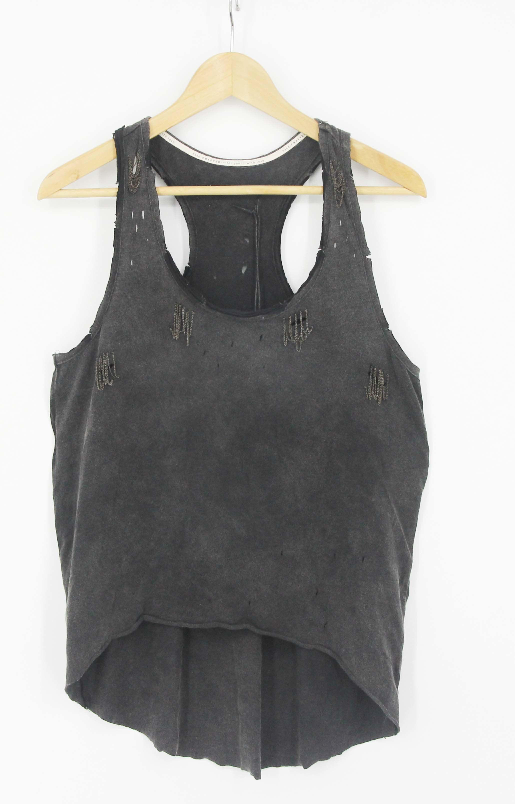 Women Street Style Hippy Printed Garment Washing T-Shirts Vest