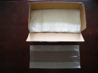 HDPE Transparent Plain Plastic Food Bag