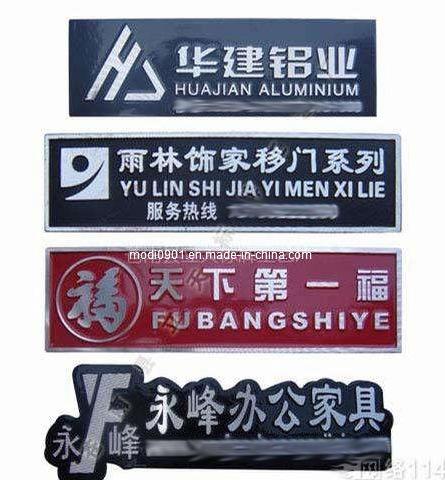 Beautiful Design Custom 3D Metal Cloth Logo Plates, Brand Logos Label-Milling Aluminum Metal Label