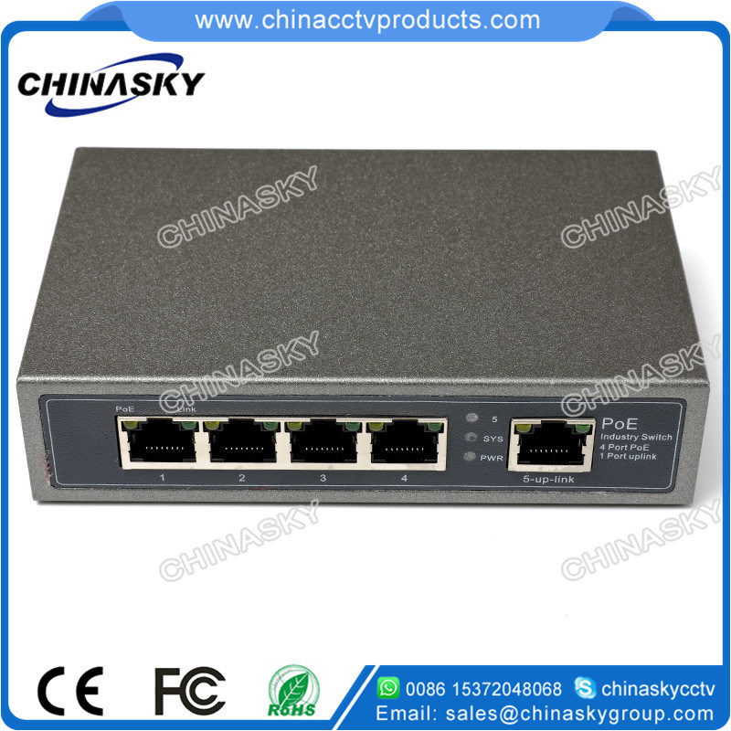 CCTV Security System 4poe+1fe Ports Poe Switch (POE0410)