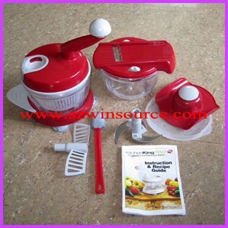 Kitchen King Pro Manual Food Processor Instructions