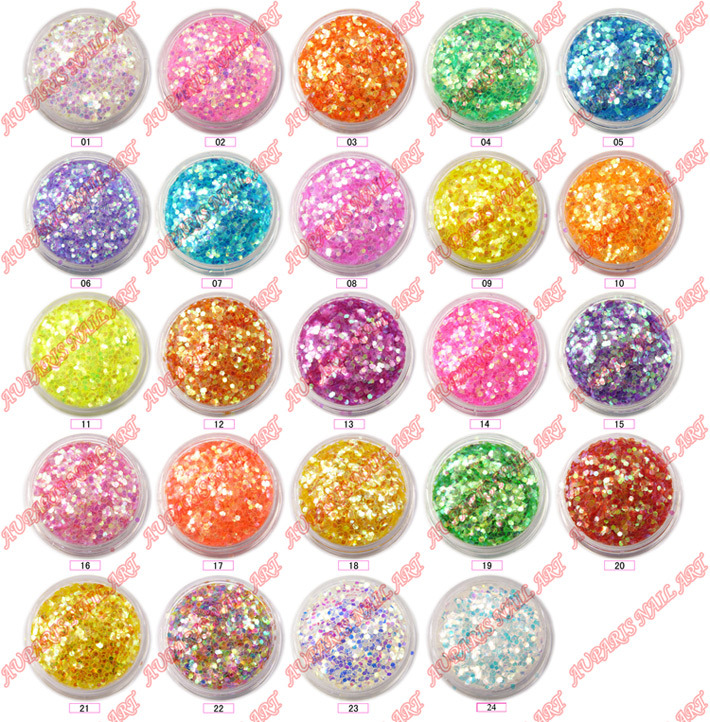 Glitter Flake Agf-82 (1.0 hexagon) Professional Nail Art Supplies
