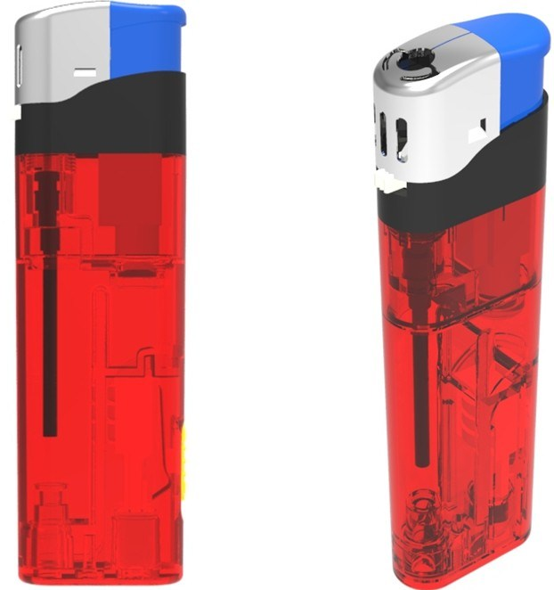Electronic Refillable Gas Lighter with LED, Donglian Lighter (DL-D101)