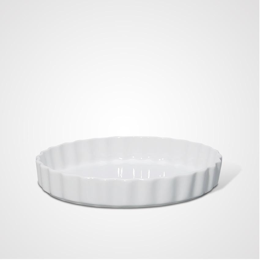 China Manufacturing Ceramic Cooking Wavy Round Tray