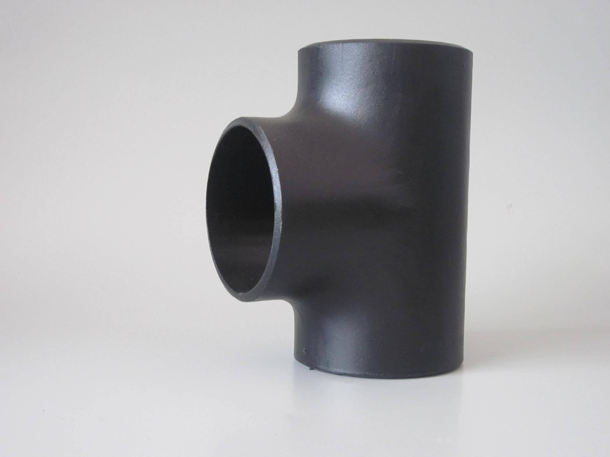 China carbon steel bw tees pipe fittings cs